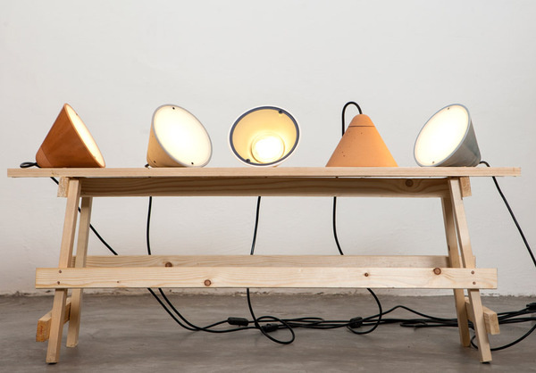 studio itai bar on + oded webman's bullet collection lamps #lamps