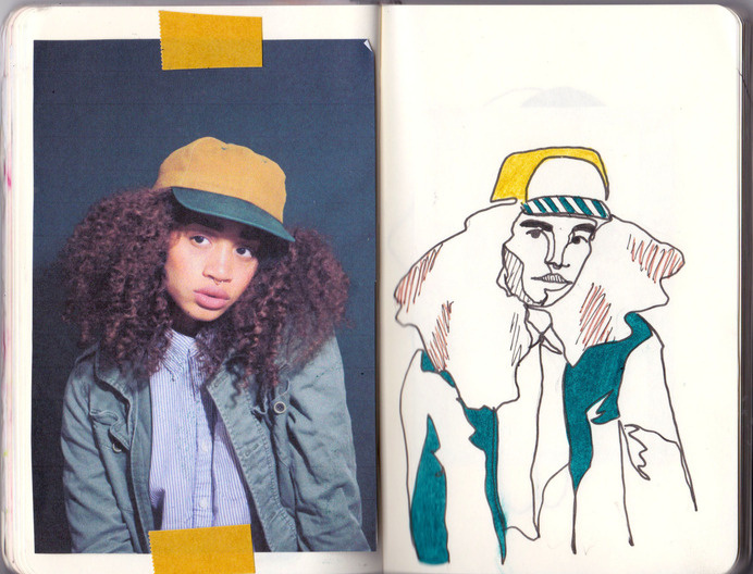 colorgrl:def one of my fave journal pages from this month #illustration #portrait
