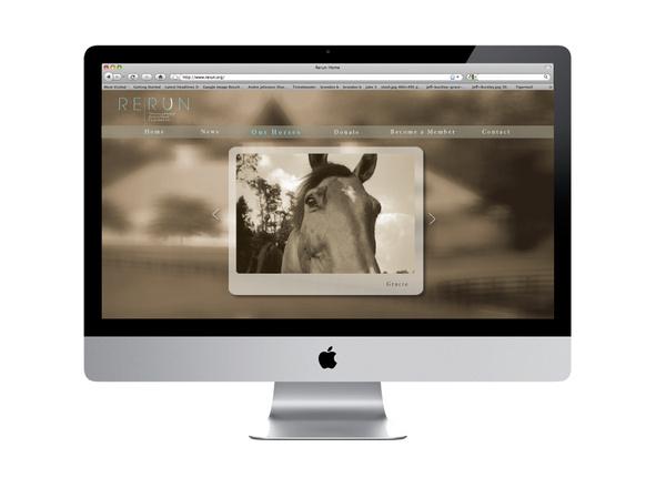 ReRun Thoroughbred Retirement Foundation Website By Christina Cagle #design #web