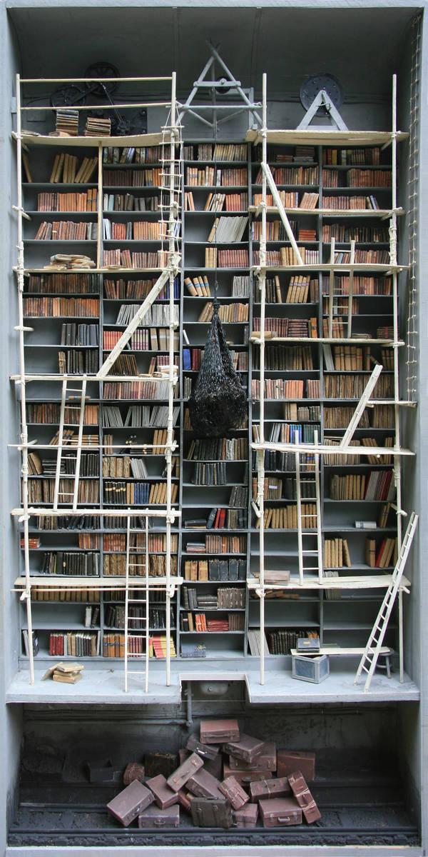 CJWHO ™ (Miniature libraries of Marc Giai Miniet   via ...) #crafts #design #books #crazy #art #library #miniature