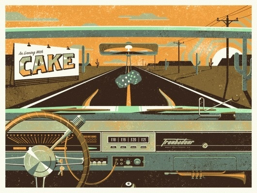 DKNG Studios » Cake, On The Road Again #gig #dkngstudios #retro #poster