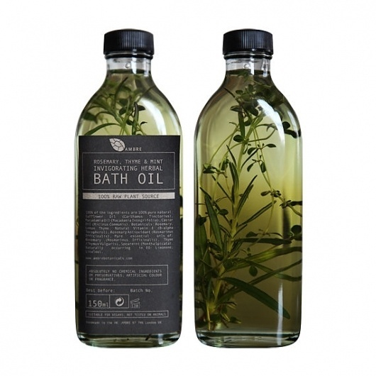 Rosemary thyme and mint invigorating herbal by ambrebotanicals #herbal #bath #packaging #thyme #mint #natural #rosemary #oil