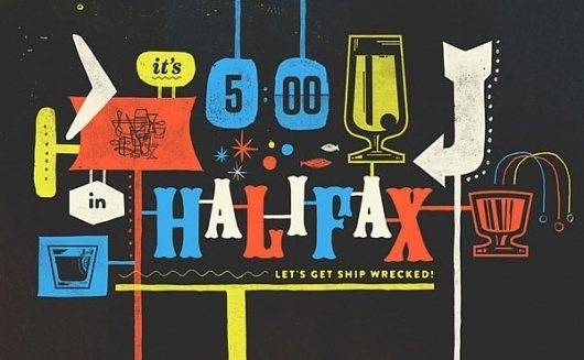 Eight Hour Day » Blog » Mike McQuade #type #illustration #halifax