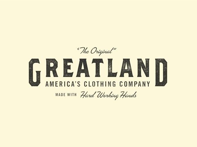 Greatland - Allan Peters #badge #logo #typography