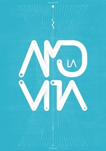 Amo La Vita #poster #typography