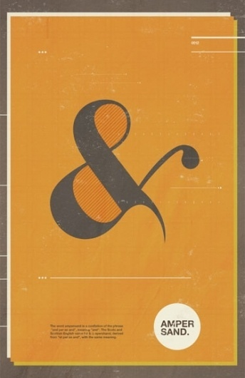 Adrenonline / Posters #ampersand #illustration #orange #poster