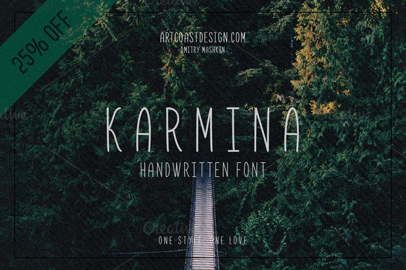 Karmina is a handwritten font designed by ArtCoast Design Agency. We wanted to create the most generic, readable and balanced handwritten fo #wedding #font #draw #handwriting #card #sans #retro #child #latin #typeface #drawn #cyrillic #vintage #type #handwritten #hand #karmina