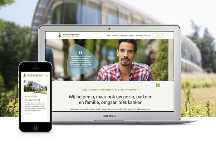 Website voor het Helen Dowling Instituut | design by The Ad Agency, www.theadagency.nl | #theadagency #graphicdesign #website #webdesign #webdevelopment