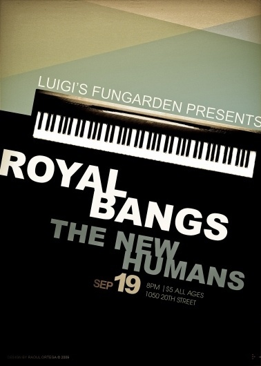 TNHZ_ROYAL BANGS FLYER « Jetstreamprojector's Blog #flyer #design #poster #typography