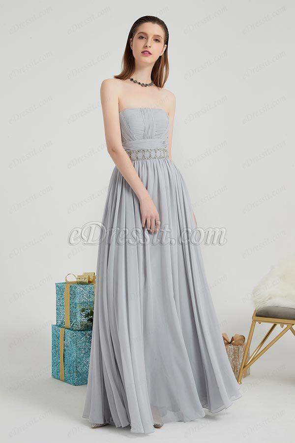 eDressit Grey Corset Beads Waistbelt Elegant Ball Party Dress (00202008)