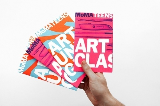 MoMA Teens Mailer - The Department of Advertising and Graphic Design #color #moma #teens #typography