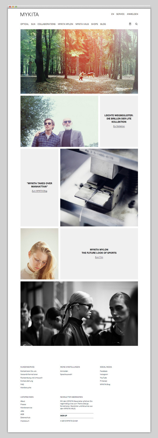 MYKITA #website #layout #design #web