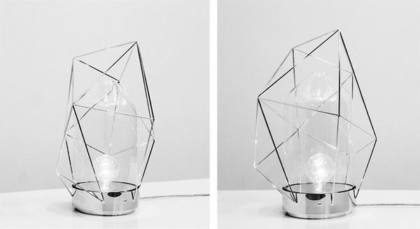 Reverie Lamp minimalist series by designer Sergio Guijarro. @Kikekeller gallery, Madrid #lamp #sergio #geometry #glass #reverie #brass #metal #guijarro #light