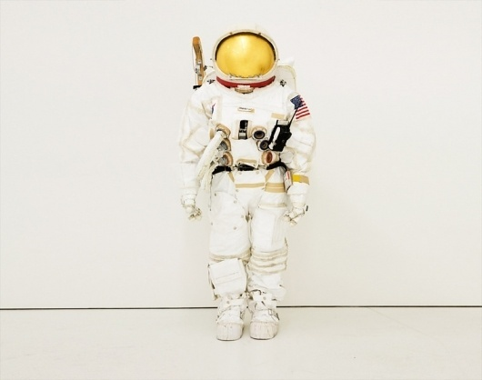 Tom Sachs: Work / Space Suit #sculpture #astronaut #american #sachs #tom #gold #art #moon