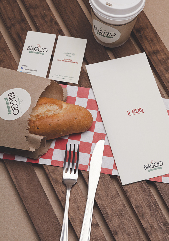 Creating a fresh urban and visual concept for BIAGGIO FOODTRUCK- The Branding People #graphic design