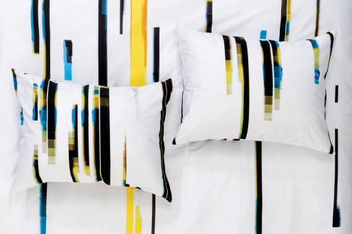 Laura Knoops — Graphic Design, Textile & Video ZigZagZurich #bedding #knoops #pattern #zigzag #video #textile #bed #linen #zurich #glitch #error