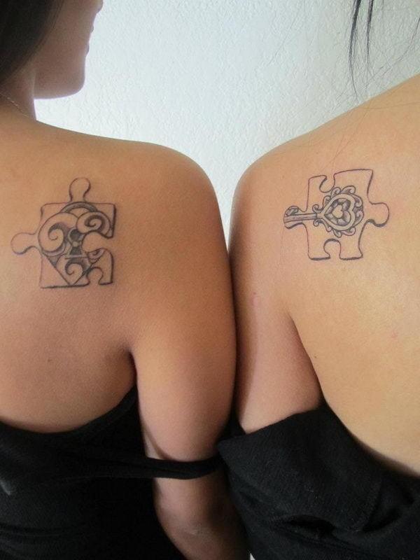 40+ Cool Puzzle Piece Tattoo Design Ideas #tattoo #puzzle #piece
