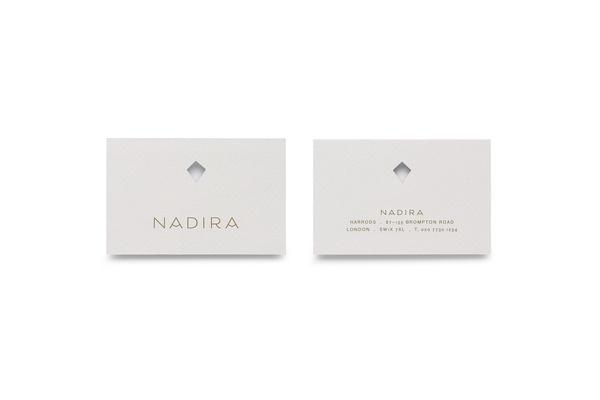 Nadira — Burgess Studio #die #cut #business #card #print #stationery