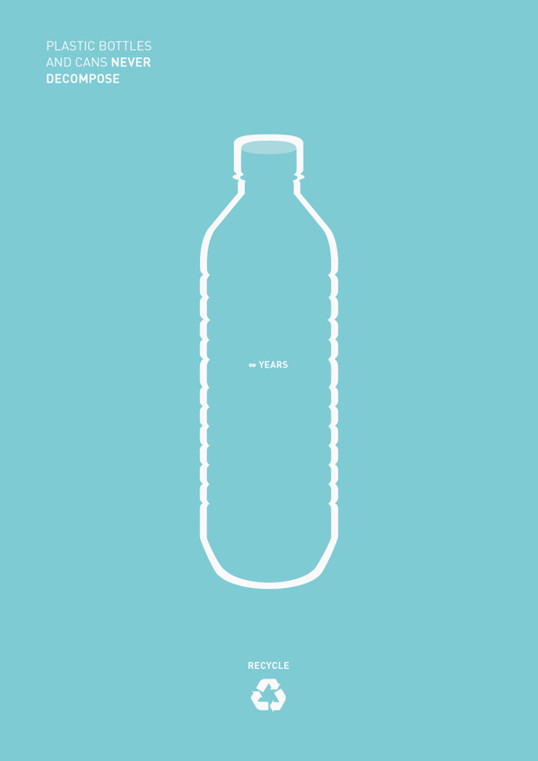 Recycling #recycle #water #bottle #sarita #design #graphic #world #saritawalsh #minimal #poster #recycling #change #blue #walsh