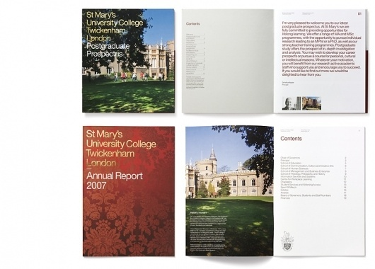 Communicating strong values for St Mary's University College #print #annual report