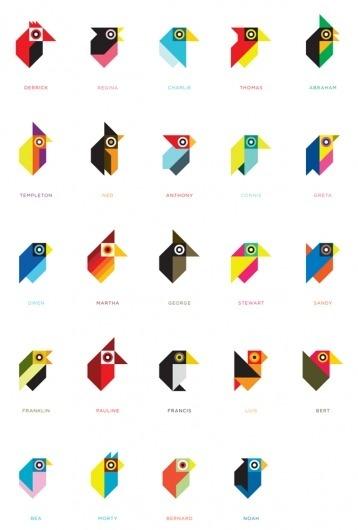 Tony Buckland - Designer #birds #geometry