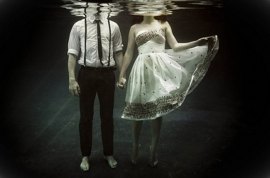 abyss of the disheartened   Flickr - Photo Sharing! #ocean #couple #photography #portrait #vintage #sea #underwater