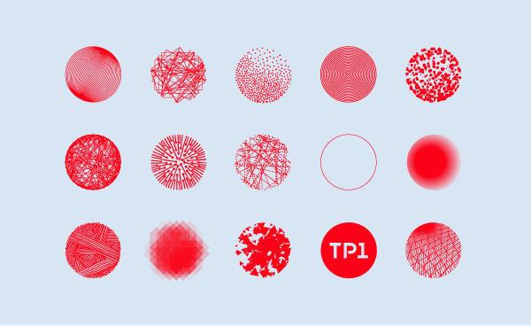 TP1 on Behance #round #experimentation #texture