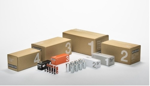 Cardboard Packaging for Batteries #packaging #helvetica #cardboard