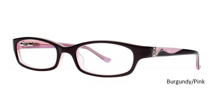 Burgundy/Pink Vivid Eyeglasses Vivid Boutique Petite 6008.