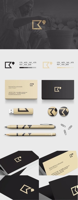 Personal Branding by Konrad Kruczkowski #logo #branding #stationary