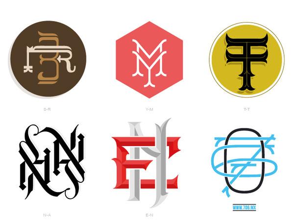 Types & Monograms #letters #icons #monogram #custom #type #typography