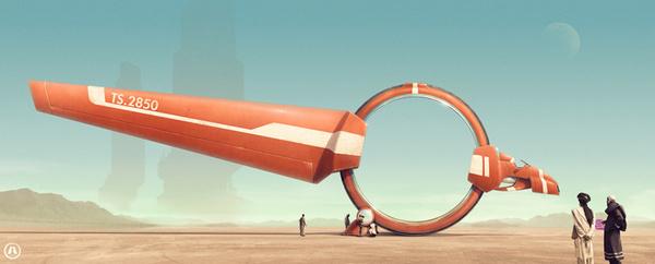 artams.com | Illustration #machine #sci #space #mechanical #fi #digital #illustration #art #desert