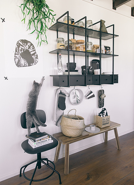 IKEA graphic minimalistic black and white shapes in home furnishing