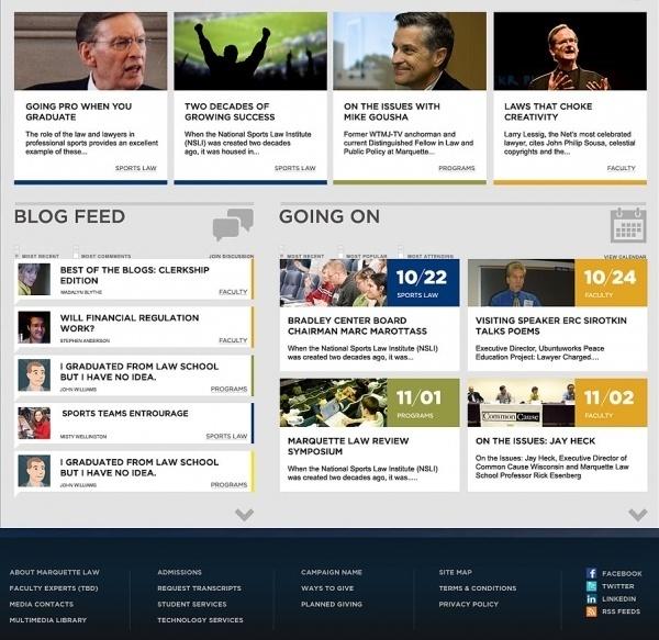 Marquette University - SCAR #website #grid #interface