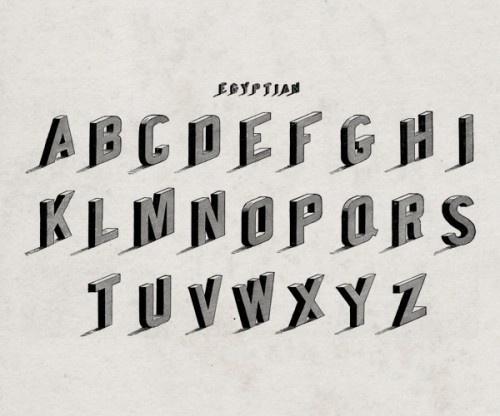 alphabet_2 #font #vintage #typography