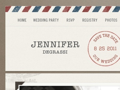 Dribbble - Air Mail Wedding Invite by Dave Ruiz #mail #vintage