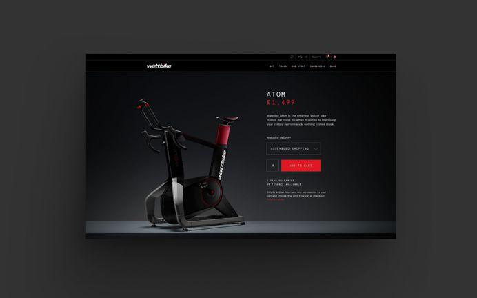 Wattbike Atom ecommerce website by Onwards