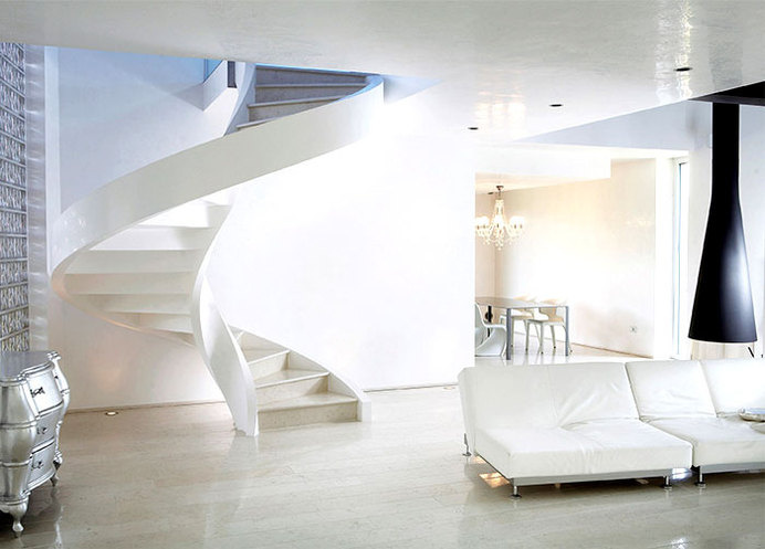 Concrete Spiral Staircases by Rizzi lightweight concrete staircase #interior #concrete #spiral #stairs #staircases