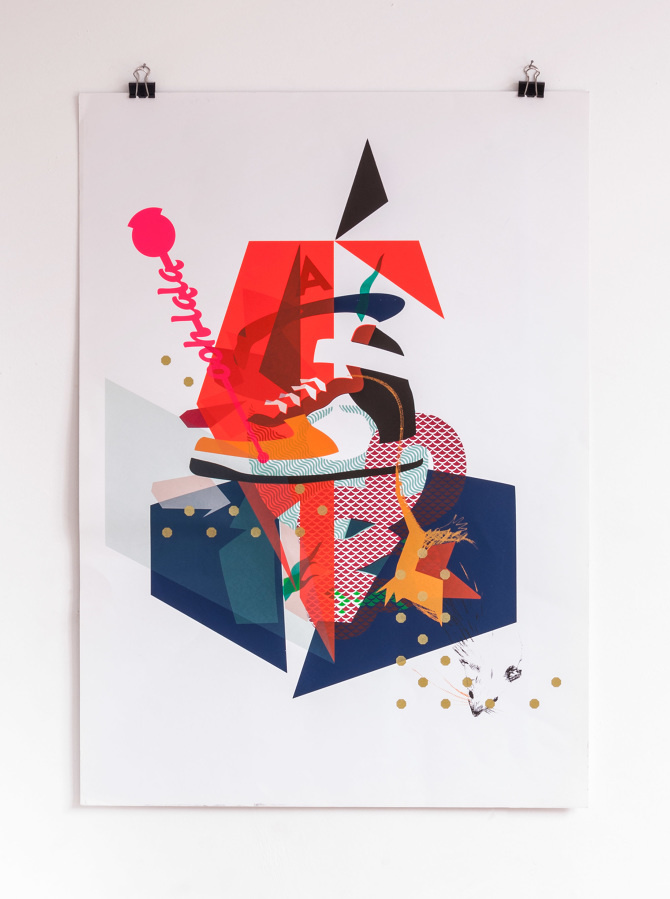 Print Making Money Gang Collage No4