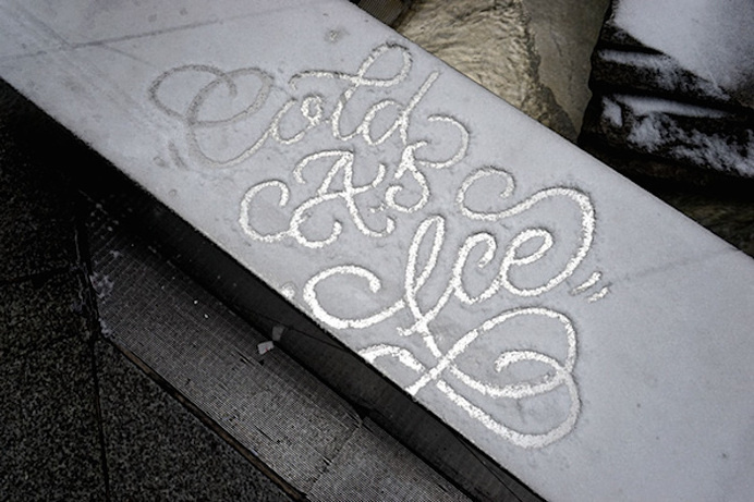 snow_script_faust_ny_04 #typography #handwriting #snow, faust ny