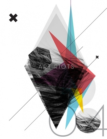 ART RIOTS // LET IT RIOT OUT on the Behance Network #lines #depth #crosses #design #shapes #color #texture #rflevo #triangles #muse