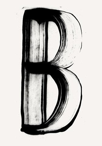 #Typography #B #Letter #FFFFound