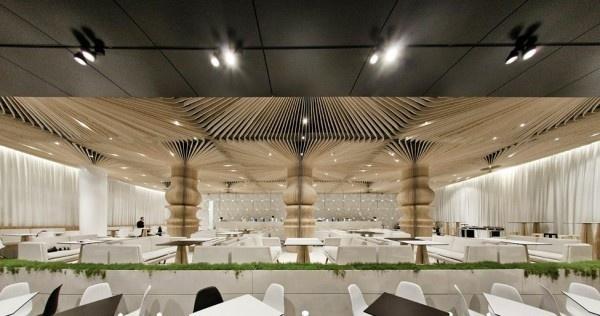 Interior of the Graffiti Cafe #interior #caf #graffiti #modern #archietecture #cafe #architecture