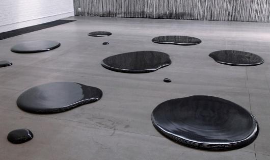 Oil Spills (Porcelain) #weiwei #sculpture #design #porcelain #black #liquid #stain #ai #puddle #grey