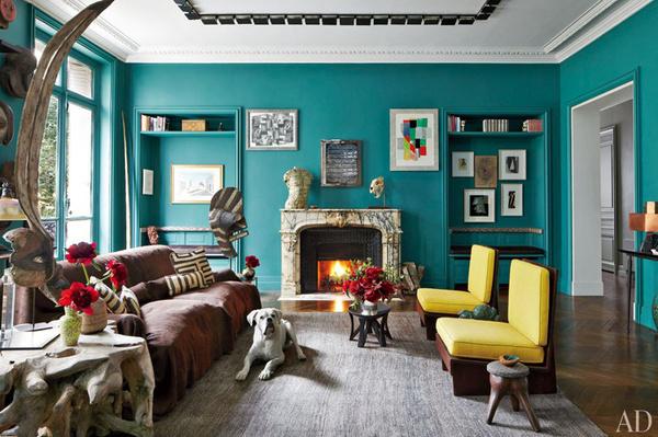 Stefano Pilati's Eclectic Paris Duplex   Miss Design #interior #design #decor #eclectic #duplex