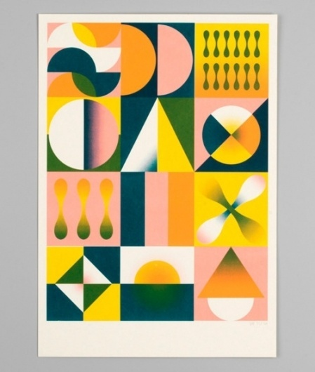 Tumblr #geometry #shapes #screenprint #hvass #hannibal #multicolor #poster #and