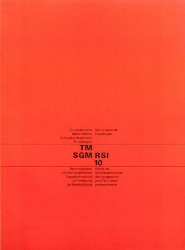 Cover from 1963 Typographische Monatsblätter issue 10 #berman #grids #design #cover #felix #typography