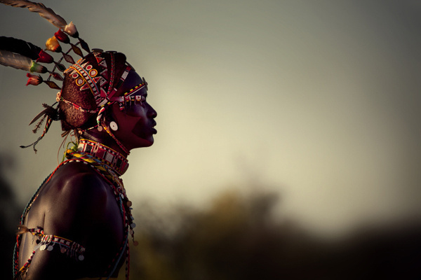 Diego Arroyo #africa #tribal #person #people #portrait #colors #contrast #sunset