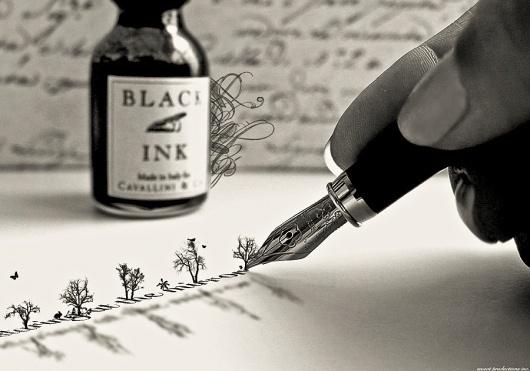 writing_trees.jpg (900×631) #calligraphy #typography