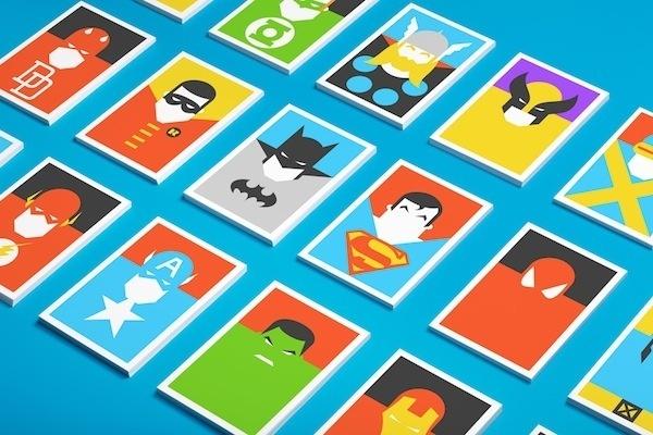 Colorful, Minimalist Postcards Of Superheroes #minimalist #colorful #postcards #superheroes